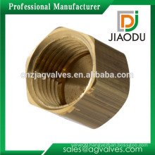 taizhou manufacturer competitive price customized female threaded forged brass cap