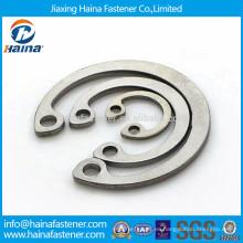 DIN472 GB893 en stock anillos de retención estándar de acero inoxidable para diámetro interior