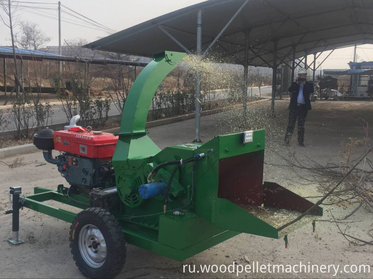diesel engine wood chipper