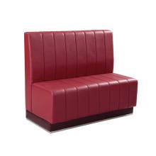 Красный Искусственная кожа ресторан двух местный диван (СП-KS257)