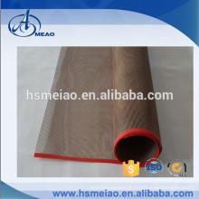 Personalizado PTFE Teflon malha correia transportadora com proteção de borda de filme vermelho