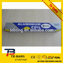 Aluminium household foil for keeping clean kitchen