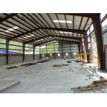 2015 entrepôt préfabriqué de structure métallique de grande envergure de coût bas