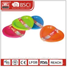 Colorful apple shape Plastic plate