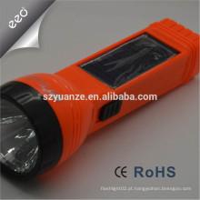 A exportação direta da fábrica tocha recarregável do diodo emissor de luz com solar lateral recarregável