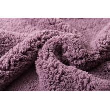 Tejido de lana de punto 100% poliéster de terciopelo shu