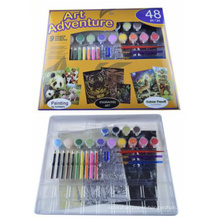diy kids water color number painting kit
