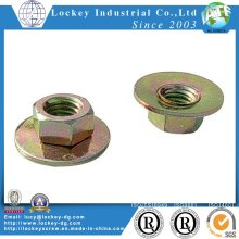 Class 8 Hex Flange Nut DIN6923 Alloy Steel Zinc Plated
