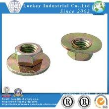 Carbon Steel Large Flange Nut Yellow Zinc