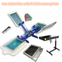 TM-R4k 2-Station 4 Farbe Textile Siebdruckmaschine