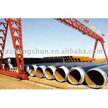 3PE steel pipe/ tube q235a/q235b erw PE steel Pipe Manufacturer
