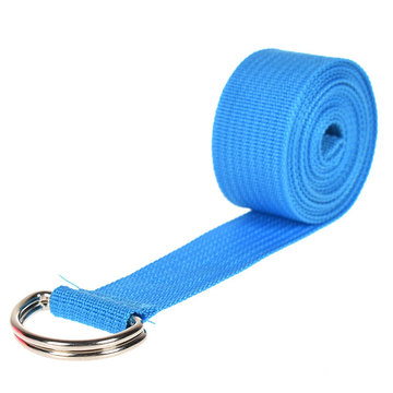 Women Yoga Stretch Strap Multi-colors D-ring Belt Fitness Yoga Strap Belt
