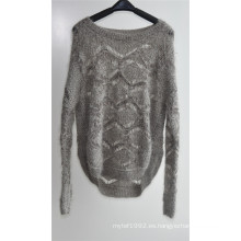 Señoras hilado de invierno hilado suéter jersey