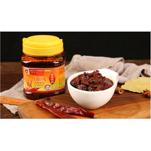 Red oil bean paste with fresh pepper