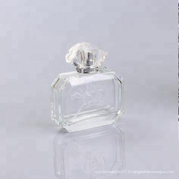 nouvelle bouteille en verre de forme carrée parfum 100ml