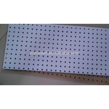 white painted peg board/mdf board and hardboard/handle board