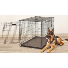 Kundenspezifische Black Wire Folding Pet Cage Hundehütte