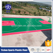 Outdoor suspend tiles for badminton/basketball/tennis court