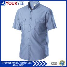 Atacado de trabalho mecânico camisas de manga curta Workwear (YWS112)