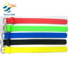 bracelet chaud de vente de poinçon réglable de silicone