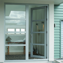 Aluminium frame double glazed front door sheet design