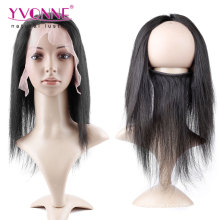 Brazilian Human Hair 360 Lace Frontal with Elastic Band