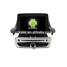 6.0 Android System lecteur dvd de voiture pour 2014 Renault Megane avec GPS, Bluetooth, 3G, ipod, jeux, double zone, contrôle du volant