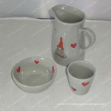 3pcs ceramic set with christmas design for BS12056G