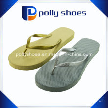 Sandálias Femininas Thong Flip Flop em Prata Tamanho 11