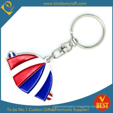Factory Price Customized Colorful Metal Baking Varnish Key Ring in High Quality From China