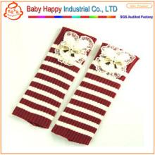 Leggings en crochet à rayures confortables de haute qualité bébé