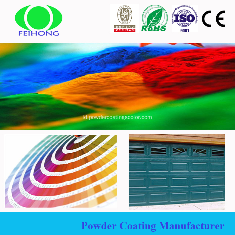 Resin poliester panas transfer pintu powder coating
