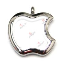 Pingente de medalhão de maçã de aço inoxidável preço de fábrica barato