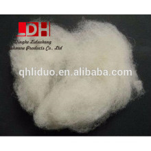 Fabricante dehaired y carded corderos blancos naturales fibra de lana 16.5mic / 34-36mm