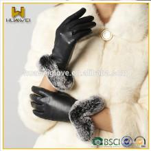 Gants de cuir en cuir blanc classique avec certificat BSCI