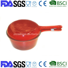 Combo Cooker Enamel Cast Iron Saucepan with Double Use Lid as Skillet