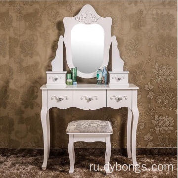 Dubai Luxury wood dresser table with mirror