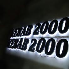 Напольные обратные Lit LED буквы канала