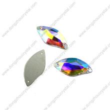 China Wholesale Flat Back Nähen auf Glas Flatback Stein Perlen für Bekleidungszubehör