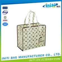 Novo design mais popular saco de zíper de juta profissional