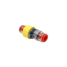 Fiber optic outside diameter 7mm microduct straight gas-tight block connector