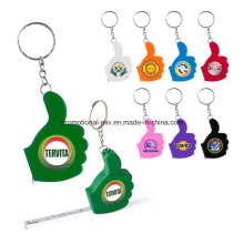 Colorful Thumb-Shaped Keychain with Ruler Function Promotional Tape Measures