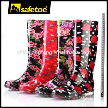 Women plastic pvc transparent rain boots W-6040