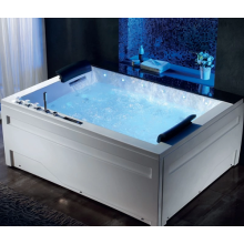 Corner White Acrylic Spa Whirlpool Bathtub 48 Inch