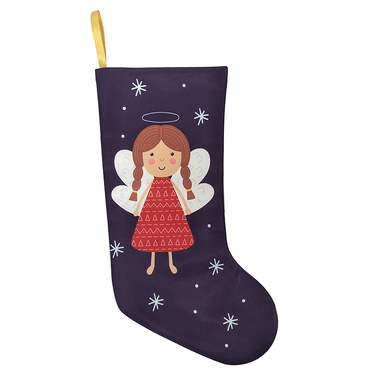 Christmas Printed Dancing Angel Stocking