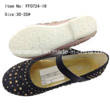 Sapatos de criança sapatos de dança menina sapatos princesa sapatos de festa (ff0724-16)