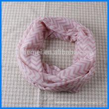 Lady polyester wholesale chevron infinity scarf