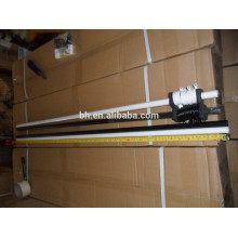 White Tension Curtain Rod With Plastic Rind