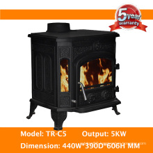 Promotion High Efficiency CE Certified Cast Iron Wood Burning Stove, Wood Heater, Wood Burner