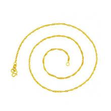 Chaîne de collier en or très mince de promotion, bijoux de collier de cuivre